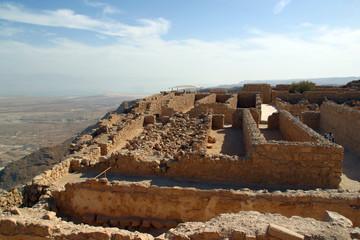 Israele, le rovine della città di Masada.