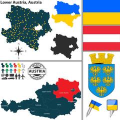 Map of Lower Austria, Austria