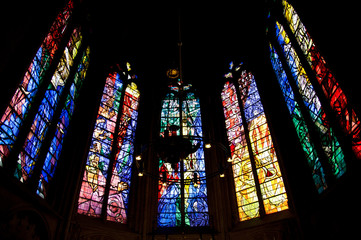 Stained glass in Saint Etienne de Metz Cathedral, France