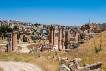 Ancient Roman city of Gerasa of Antiquity , modern Jerash, Jordan