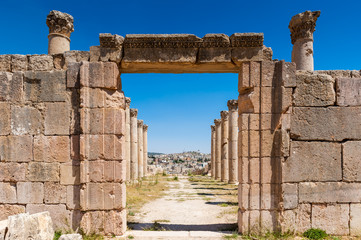 Church of Saint Theodore,  Ancient Roman city of Gerasa of Antiquity , modern Jerash, Jordan