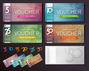 Voucher design template