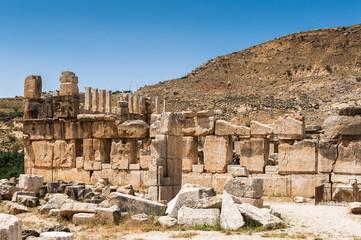 Ruins of the Qasr al Abd, a large ruin in Iraq Al Amir, Jordan.