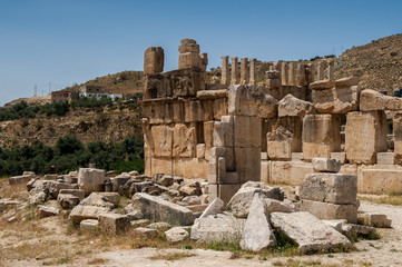 Ruins of the Qasr al Abd, a large ruin in Iraq Al Amir, Jordan.