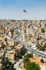 City of Amman, the capital of Jordan