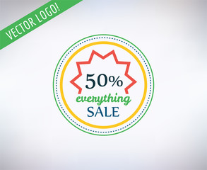 Sale vector sticker icon. Shopping, Discount and Black Friday