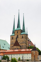 St. Severus Church, Erfurt, Germany. Erfurt is the Capital of Thuringia and the city was first nentioned in 742