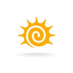 Sun spiral logo