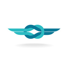 Knot logo with wings