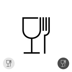 Fork and glass