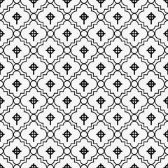 Black and White Celtic Cross Symbol Tile Pattern Repeat Backgrou