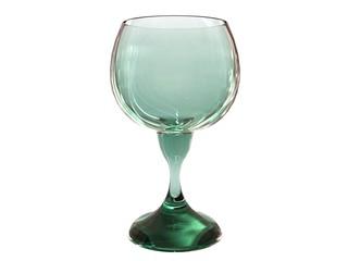glass render in green tones