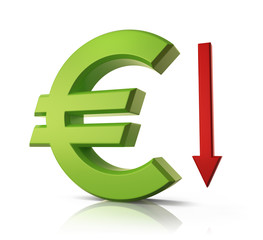 Euro going down