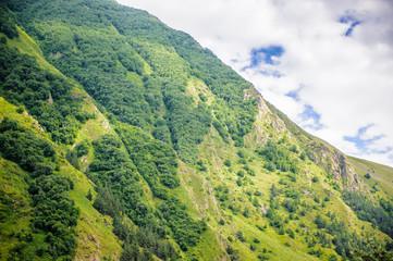 Beautiful nature and mountains in Georgia
