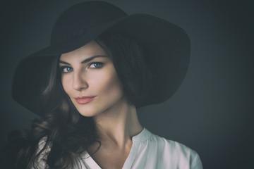 Beautiful Russian Woman on Seamless Background