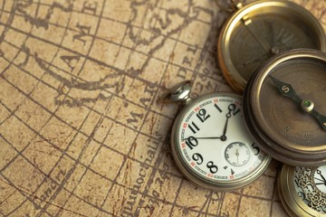 Time, Old, Compass.