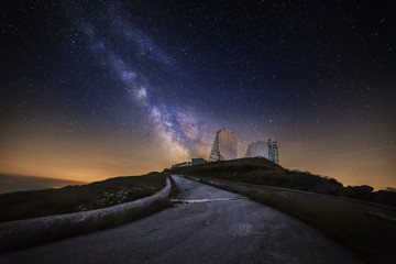 Milky Way above the radar