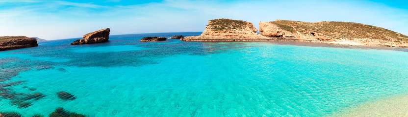 Obraz The Blue Lagoon on Comino Island, Malta Gozov - fototapety do salonu