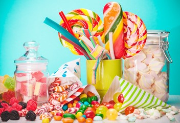 Sweet, sugar, bags.
