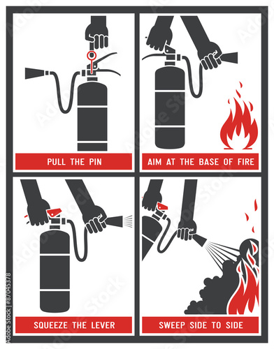 quotfire extinguisher label fire extinguisher signs vector