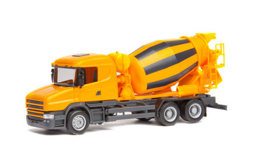 truck concrete mixer isolated on white background