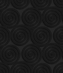 Textured black plastic three spirals