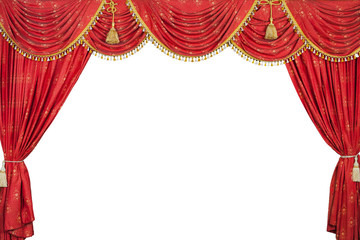 Large Red theater curtain