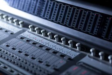 Music Mixer in studio