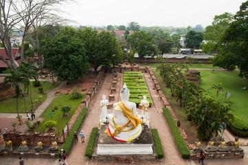 Ancient Buddha in Wat Yai Chaimongkol, Ayutthaya, Thailand