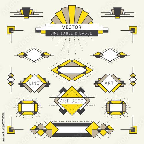 art deco vector