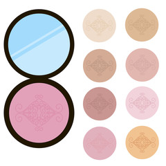 Vector blush on isolated background.