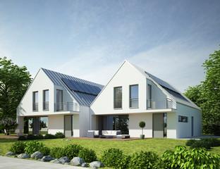 Doppelhaus modern 2