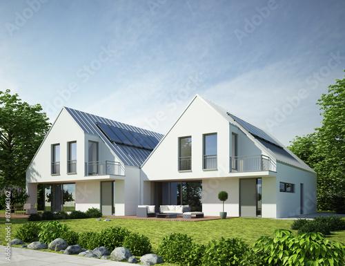 Doppelhaus modern 2 stockfotos und lizenzfreie bilder for Doppelhaus modern bauen