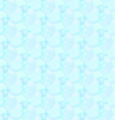 seamless bubble pattern blue vector background