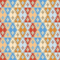 Seamless decorative pattern in aztec or african style