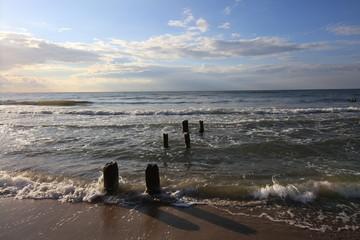 morski falochron nad Bałtykiem