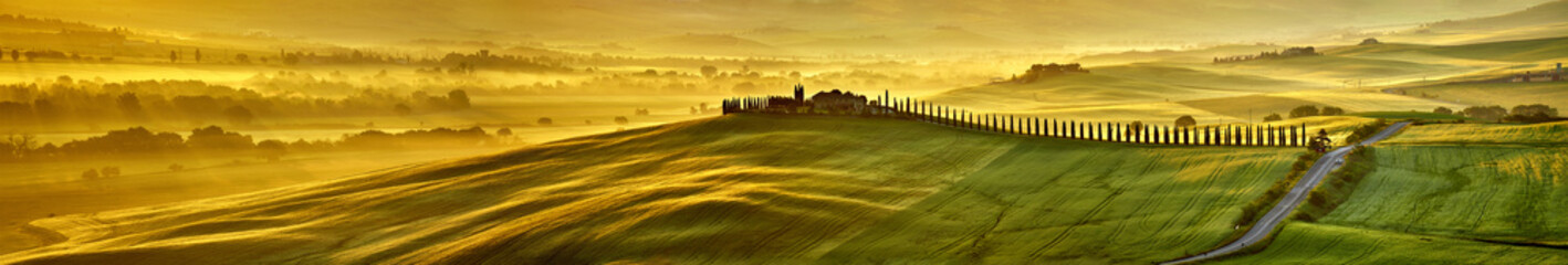 Canvas Prints Honey HI res mega pixel Tuscany hills panorama