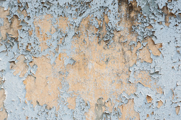 Fotobehang Oude vuile getextureerde muur Weathered texture of stained old dark brown and red brick wall background