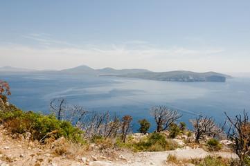 Alghero, Stadt, Punta Giglio, Monte Doglia, Porto Conte, Capo Caccia, Insel, Mittelmeer, Sardinien, Sommer, Italien
