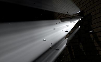 Wall Break Through And Light