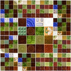 Fotomurales - Background collage. Ceramic tile in Lisbon street, Portugal.
