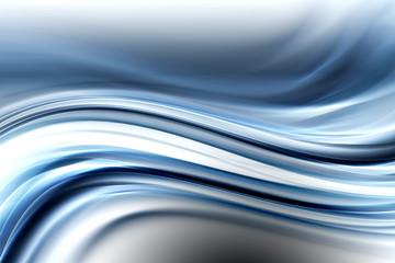 Creative Blue Fractal Waves Art Abstract Design Background