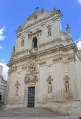 Martina Franca cathedral facade, Italy