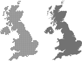 map of united kingdom Fotomurales