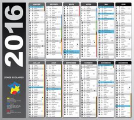 calendrier 2016
