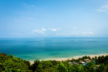 Wall Mural - White Sand Beach at Koh Chang high angle view,Thailand