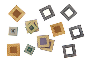 CPU microprocessors isolated