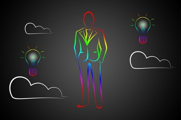 man in business suit illustration