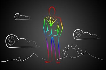 man in business suit illustration