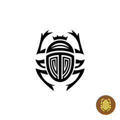 Scarab tattoo logo vector sign